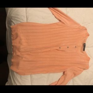 Peach NY &Co button up sweater